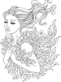 Line Artsy - Free adult coloring page - Feathers (uncolored)