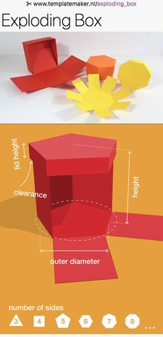 Free custom Exploding Box-templates from ✂︎ templatemaker.nl/exploding_box