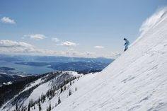 Schweitzer Ski Resort in Sandpoint, Idaho - overlooking Lake Pend O'Reille
