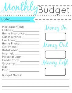 Free printable monthly budget worksheet-and learning lessons about ...