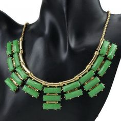 Always keep dry and away from humidity Clean with products made especially for costume jewelry.  http://youblue.co/gold-plated-candy-bib-necklace.html