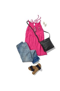 f6090f83266 The perfect transition tank from spring to summer  sponsored  timeandtru   walmart  springstyle