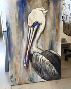 Louisiana Art, Louisiana Swamp, Pelican Art, Coastal Art, Pallet Art, Watercolor Paintings, Acrylic Paintings, Animal Paintings, Bird Art