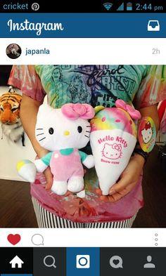 Hello kitty reversible plush-snow cone Hello Kitty Plush, Snow Cones, Sanrio Characters, Plushies, Dinosaur Stuffed Animal, Birthday Gifts, Toys, Animals, Birthday Presents