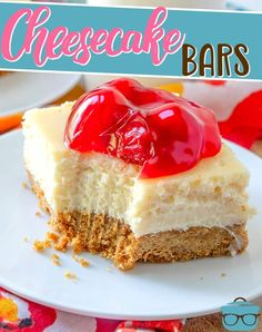 So simple and easy to slice and serve! Creamy cheesecake filling in a homemade graham cracker crust. Chocolate Cheesecake, Cheesecake Bars, Cheesecake Recipes, Dessert Recipes, Homemade Cheesecake, Classic Cheesecake, Homemade Desserts, Baking Recipes, Delicious Desserts