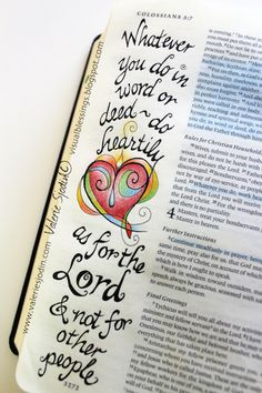 visual blessings: Putting on Kingdom Clothing - Bible Art Journaling