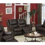 Poundex Furniture - Dark Chocolate Bonded Leather Loveseat - F7737  SPECIAL PRICE: $609.00