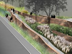 This excerpt comes from Diana Balmori's A Landscape Manifesto. Balmori Associates, her landscape and urban design firm, recently completed a nine-mile linear park on the abandoned New Haven railroad in Connecticut.