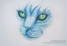 The Blue Cat by Alejandra-perez.deviantart.com on @deviantART