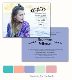 """Announce & Invite :: Our Exclusive Line of Photo Graduation Announcements :: """" Blessed is the one..."""""""
