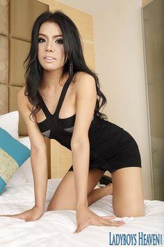 Hot Bangkok ladyboy Amy wearing a sexy black dress. #ladyboy #Tgirls #transsexual
