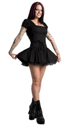 rivethead, goth, dress, mini skirt, Bettie Dress