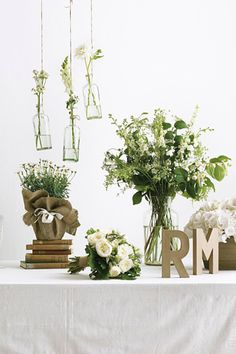 Centerpiece and decor ideas- Letters at the welcome table?