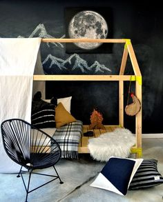 You Can Build This!! The Design Confidential Free DIY Furniture Plans // How to Build an Indoor Outdoor House Bed Playhouse and Outdoor Daybed Lounge