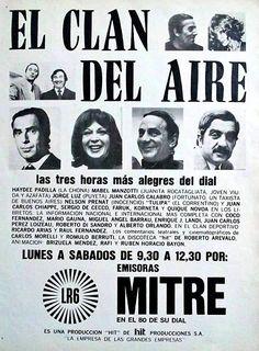 Publicidad de RADIO MITRE, Buenos Aires, década del 70.