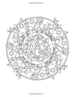 8 Christmas Coloring Pages For Adults | Activities | Pinterest ...