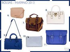 Tendência: Bolsas para o dia-a-dia no Inverno 2013 | Bolsas em azul, nude, vinho e azul pastel
