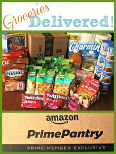 Shopping at home from prime pantry. Get your groceries delivered to your house! Save time, gas and money!