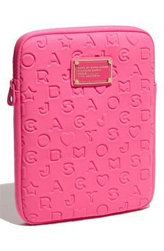 marc by marc jacobs stardust ipad case in fuchsia