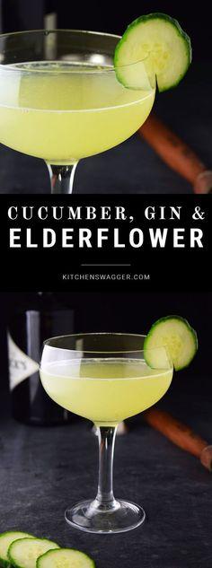 Gin Cocktail Recipes, Martini Recipes, Lemon Cocktails, Gin Cucumber Cocktail, Cucumber Drink, Cocktail Ideas, Cocktail Menu, Summer Cocktails, Gin Lemon