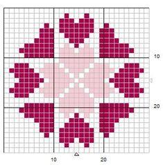 Simple but pretty Cross Stitch Designs, Cross Stitch Patterns, Quilt Patterns, Crochet Patterns, Cross Stitch Books, Cross Stitch Heart, Cross Stitching, Cross Stitch Embroidery, Graph Paper Art