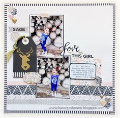Karen Pedersen: Simply Inspired Blog Hop: Expressions 1: CTMH Woodland Romance stamp set and the Charlotte Workshops Your Way kit paired with some papers from La Vie En Rose. Single page Scrapbooking Layout