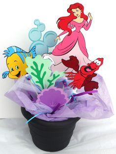 Personalized Disney Princess Ariel 14 Centerpiece Sticks Cricut Die Cut | eBay