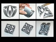 Free tutorial: Les Ethiopiques, polymer clay kaleidoscope cane.