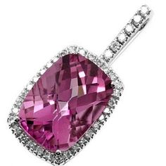 Pink Topaz & Diamond Pendant White Gold - Topaz by Bell Jewels Pink Topaz, Gems And Minerals, Magpie, Diamond Pendant, Sparkles, Gemstone Jewelry, Heart Ring, White Gold, Glamour