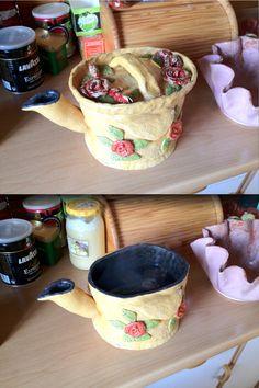 A huge ceramic pot of tea (handmade ;-))