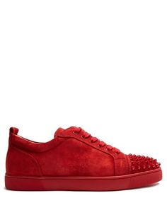 1e68ab6e4d98 CHRISTIAN LOUBOUTIN Louis Junior Low-Top Suede Trainers.  christianlouboutin   shoes  sneakers