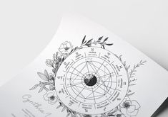 Close up of our new astrology chart design. Minimal black and white lines. Navigate your stars with this tool of self discovery and understanding. Astrology Books, Astrology And Horoscopes, Love Horoscope, Astrology Chart, Astrology Zodiac, Astrology Signs, Aquarius Constellation Tattoo, Virgo Love, Black And White Lines