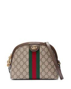 e71035f3314 Gucci Linea Dragoni GG Supreme Canvas Small Shoulder Bag