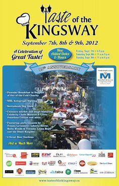 Taste of the Kingsway - Sept. West Village, Dog Show, Charity, Travel, Viajes, Destinations, Traveling, Trips