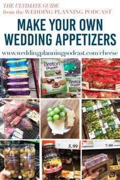 Explore wedding appetizer ideas that are cheap & easy in this free episode of the Wedding Planning Podcast! Cheap Appetizers, Wedding Appetizers, Appetizer Recipes, Appetizer Ideas, Wedding Dinner, Farm Wedding, Wedding Bells, Wedding Decor, Dream Wedding