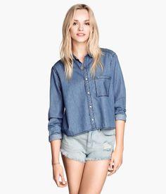 H&M - Short Denim Shirt