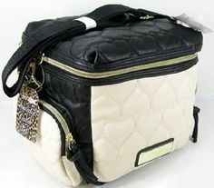 Betsey Johnson Insulated Lunch Tote Bag Box Be Mine Cargo Hearts Black Bone