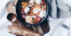 Baked Eggs in Spicy Tomato Sauce - Life & Thyme