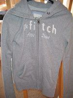 Abercrombie & Fitch Grey Hoodie(used) zip front size XL
