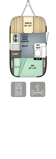 2016 Airstream Sport - Sport 16 || Tows Easily Behind Your Bigger Airstream. Sleeps 3 Great Danes Uncomfortably or 4 Corgis and 1 Whippet Comfortably.