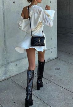 Street Style Edgy, Mode Outfits, Fashion Outfits, Womens Fashion, Fashion Trends, Travel Outfits, Fashion Fashion, Trendy Fashion, Sac Yves Saint Laurent