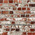 Bakstenen muur met stalen balk motieven