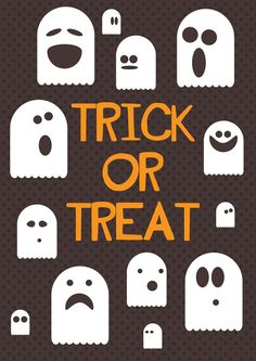 Trick or Treat Halloween Poster Decoration