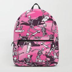 Grim Ripper Skater Camo PINK Backpack