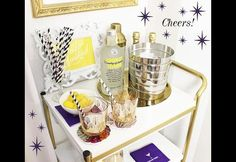 See how we transformed an Ikea Utility Cart into a gorgeous DIY bar cart.