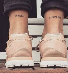 42 Tattoo Quotes that will make you irresistible! Little Tattoos, Mini Tattoos, Body Art Tattoos, Tatoos, Girly Tattoos, Foot Tattoos, Temporary Tattoos, Heel Tattoos, Tattoo Spots