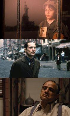Don Vito Corleone in The Godfather II, II, & I