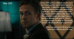 "I love ""Ryan Gosling, Arts Administrator!"""
