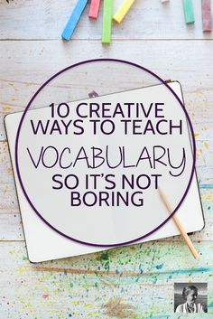 10 Creative Ways to Teach Vocabulary 10 Creative Ways to Teach Vocabulary,Vocabulary instruction Wish teaching vocabulary could be more creative and fulfilling? Try these ten strategies to make studying vocabulary more engaging. Vocabulary Instruction, Vocabulary Games, High Vocabulary Words, How To Teach Vocabulary, Teaching Vocabulary Activities, Teaching Multiplication, Academic Vocabulary, Spelling Activities, Family Activities