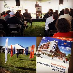 Underway the groundbreaking of #BoiseState's new Honors College and First-Years Residence Hall.  President Kustra shares his thoughts on how the university has grown and changed to be a leading innovative Doctoral Research Institution within the most beautiful campus around.  The Boise State Honors college has seen a 50% increase in applications lead by Dean Andrew Finstuen and the entire Honors College staff that is building a community of academic excellence now and in the future.